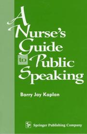 Cover of: A nurse's guide to public speaking