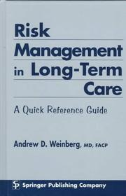 Cover of: Risk management in long-term care