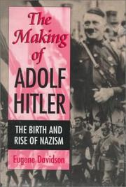 Cover of: The making of Adolf Hitler