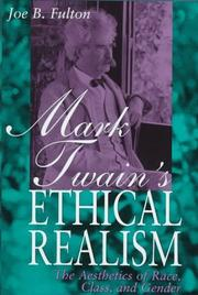 Cover of: Mark Twain's ethical realism