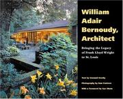 Cover of: William Adair Bernoudy, architect