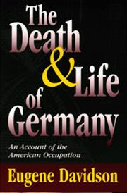 Cover of: The death and life of Germany