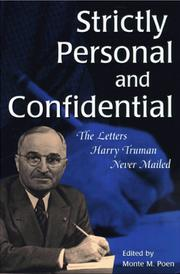 Cover of: Strictly personal and confidential