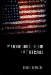 Cover of: The narrow path of freedom and other essays