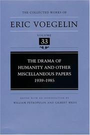 Cover of: The drama of humanity and other miscellaneous papers, 1939-1985