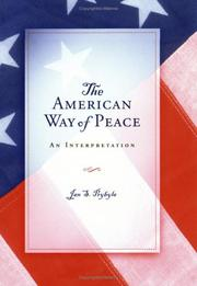 Cover of: The American way of peace