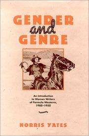 Cover of: Gender and genre | Norris Wilson Yates