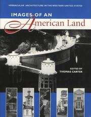 Cover of: Images of an American land |