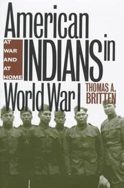 Cover of: American Indians in World War I