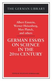 Cover of: German Essays on Science in the Twentieth Century