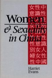 Women and sexuality in China by Harriet Evans