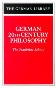 Cover of: German 20th Century Philosophy