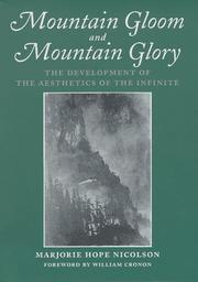 Cover of: Mountain gloom and mountain glory | Nicolson, Marjorie Hope