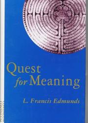 Cover of: Quest for meaning