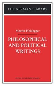 Cover of: Philosophical and political writings: Martin Heidegger (German Library)