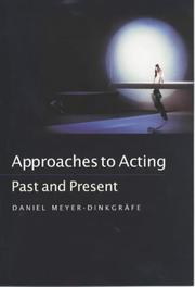Cover of: Approaches to acting