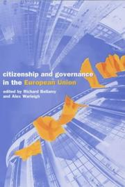 Cover of: Citizenship and Governance in the European Union |