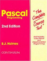 Cover of: Pascal Programming | Holmes