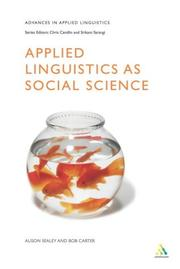 Cover of: Applied linguistics as social science