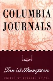 Cover of: Columbia journals