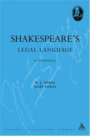 Cover of: Shakespeare's legal language