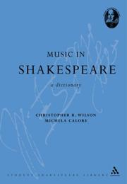 Cover of: Music in Shakespeare | Christopher R. Wilson