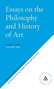 Cover of: Essays On The Philosophy And History Of Art (Continuum Classic Texts) 3 Volume Set