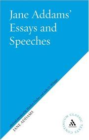 Cover of: Jane Addams' Essays and Speeches