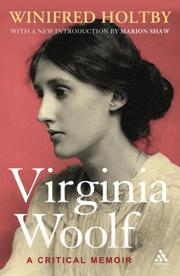 Virginia Woolf by Winifred Holtby