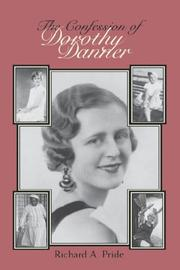 Cover of: The confession of Dorothy Danner