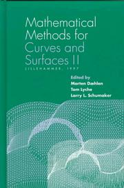 Cover of: Mathematical methods for curves and surfaces II |