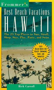 Cover of: Frommer's best beach vacations Hawaii