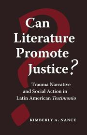 Cover of: Can literature promote justice?