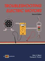 Cover of: Troubleshooting Electric Motors | Glen A. Mazur