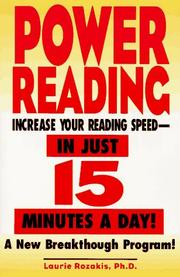 Cover of: Power reading | Laurie Rozakis