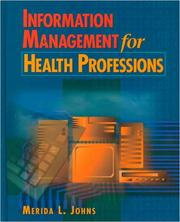 Cover of: Information management for health professions
