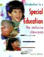 Cover of: Introduction to a Special Education | Karen A. Waldron