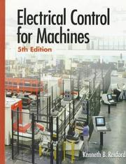 Cover of: Electrical control for machines