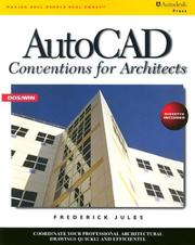 Cover of: AutoCAD conventions for architects