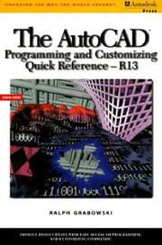 Cover of: The AutoCAD programming and customizing quick reference
