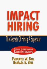 Cover of: Impact hiring