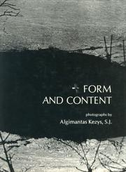 Cover of: Form and content