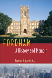 Cover of: Fordham | Raymond A. Schroth