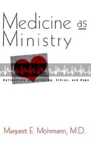 Cover of: Medicine as ministry