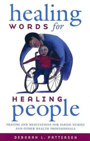 Cover of: Healing words for healing people | Deborah L. Patterson