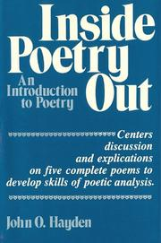 Cover of: Inside poetry out