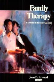 Cover of: Family therapy |