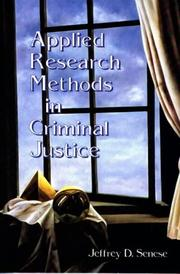 Cover of: Applied research methods in criminal justice