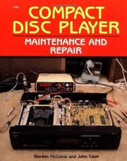 Cover of: Compact disc player maintenance and repair