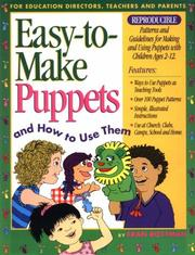 Cover of: Easy to Make Puppets and How to Use Them | Fran Rottman